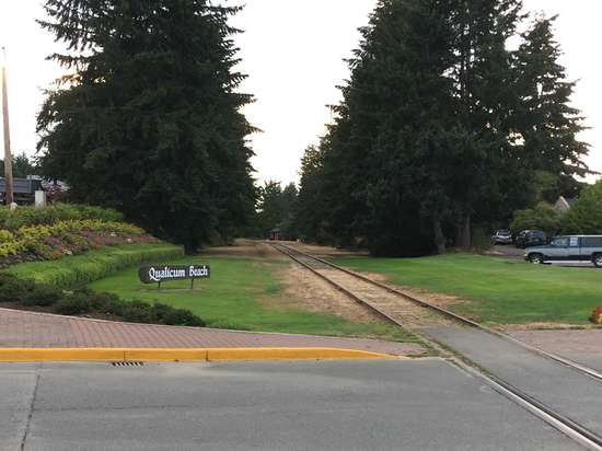 No traffic on the line in Qualicum