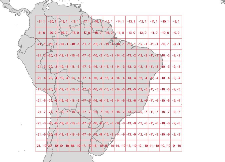 Brazil square grid